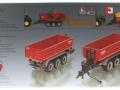 Siku 6786 - Krampe 3-Achs Hakenliftfahrgestell mit Mulde Karton hinten