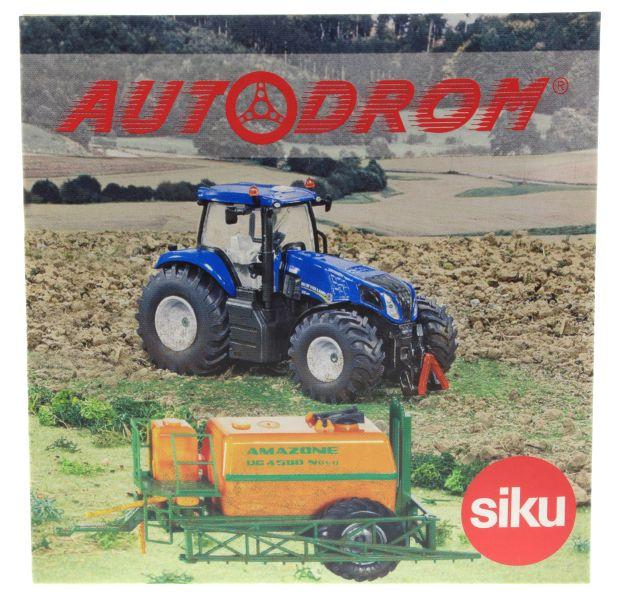 Siku 8511 - New Holland T8.390 mit Amazone Feldspritze Autodrom DVD
