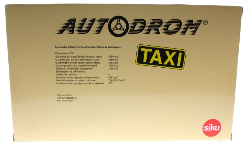 Siku 8513 - Claas 950 Axion Taxi - Autodrom - Karton hinten