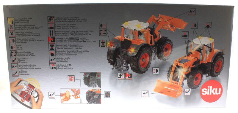 Siku 8515 - Fendt 927 Vario mit Frontlader Control 32 - Autodrom Kommunal in Orange Karton hinten