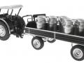Siku 8602 - Lanz Bulldog mit klassischem Anhänger - Blackline hinten links
