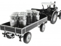 Siku 8602 - Lanz Bulldog mit klassischem Anhänger - Blackline hinten rechts