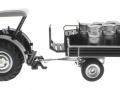 Siku 8602 - Lanz Bulldog mit klassischem Anhänger - Blackline links