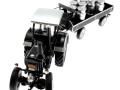 Siku 8602 - Lanz Bulldog mit klassischem Anhänger - Blackline oben vorne links
