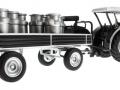 Siku 8602 - Lanz Bulldog mit klassischem Anhänger - Blackline unten hinten rechts