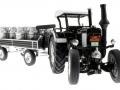 Siku 8602 - Lanz Bulldog mit klassischem Anhänger - Blackline unten vorne rechts