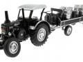 Siku 8602 - Lanz Bulldog mit klassischem Anhänger - Blackline vorne links