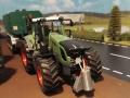 Siku Control Traktor mit Werkzeugfass vorne