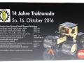 Siku MB Trac 1600 Intercooler mit Ballonbereifung - Traktroado 2016 Karton hinten