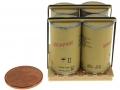 Singapor Miniature 4 Fässer auf Palette 5 Cernt Münze