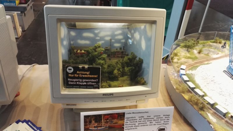 Spielidee Rostock 2016 - Monitor mit Diorama