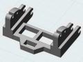 3D-Druck Modell - Siku Control 32 John Deere 7R Adapter oben