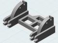 3D-Druck Modell - Siku Control 32 John Deere 7R Adapter hinten