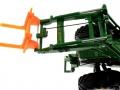 Palettengabel Orange für Siku-6777 John Deere 7R mit Frontlader Control 32 oben