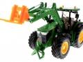 Palettengabel Orange für Siku-6777 John Deere 7R mit Frontlader Control 32 oben vorne