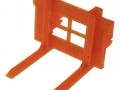 Palettengabel Orange für Siku-6777 John Deere 7R mit Frontlader Control- 2