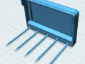 3D Mistgabel für Siku Control 32 vorne