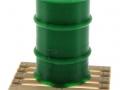 Treckerheld Fass auf Palette Grün