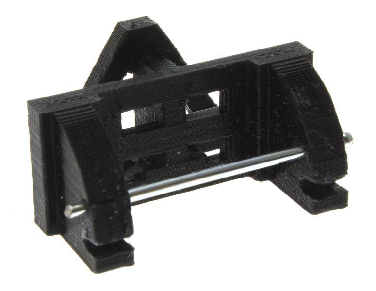 Adapter Frontdreieck schwarz Siku Control hinten