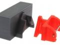 Adapter Frontdreieck mit Frontgewicht grau hinten