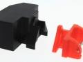 Adapter Frontdreieck mit Frontgewicht schwarz hinten