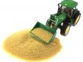 Getreide für Siku Control 32 mit John Deere 7R