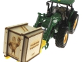Treckerheld Holz-Kiste John Deere 7R mit Paletten Langgabel