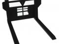 Paletten Lang-Gabel Treckerheld schwarz breit