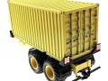 Anhänger für Siku 1:32 mit 20 Fuss Container sandfarben hinten links