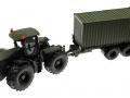 Siku Claas Xerion 5000 Traktor  Nato-Oliv-Grün mit Hänger
