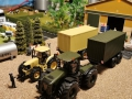 Siku Trakotor mit Anhänger Sandtarnfarbe und Claas Xerion 5000