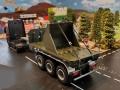 Siku Volvo LKW mit Anhänger und Bagger Schaufel