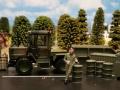Siku Farmer Militär Zubehör und MB Trac unten