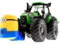 Frontgewicht Minion an Deutz-Fahr Traktor unten vorne links