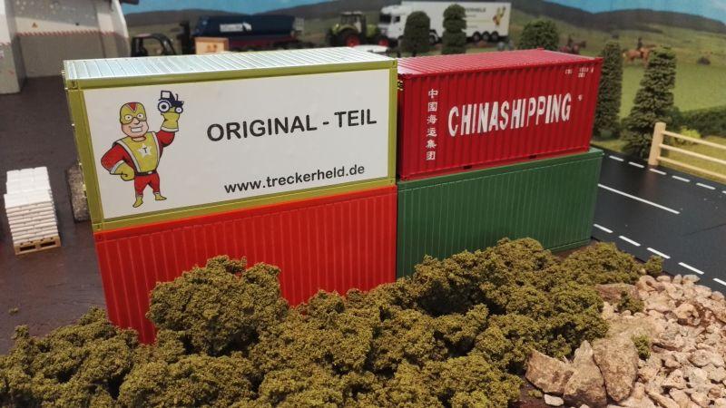 Mulden Container und Zubehör für Siku Hakenlift 6786 - 20 Fuß Container 1:32