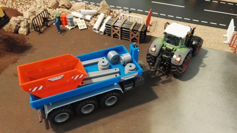 Mulden Container und Zubehör für Siku Hakenlift 6786 - Blau Mulde