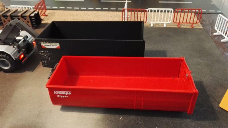 Mulden Container und Zubehör für Siku Hakenlift 6786 - Hoch Container Schwarz Größenvergleich