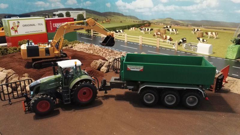 Mulden Container und Zubehör für Siku Hakenlift 6786 -Grüner Container