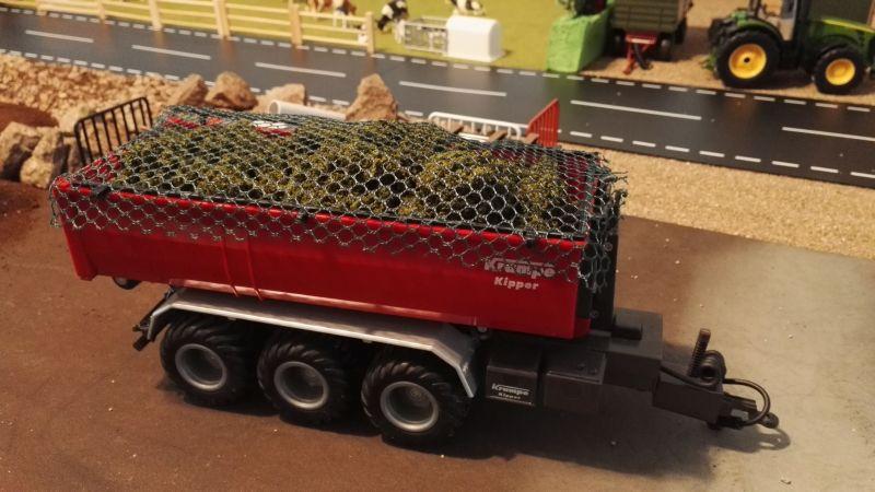 Mulden Container und Zubehör für Siku Hakenlift 6786 - Ladenetz oben