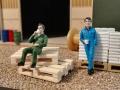 Mulden Container und Zubehör für Siku Hakenlift 6786 - Arbeiter nah