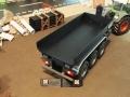 Mulden Container und Zubehör für Siku Hakenlift 6786 - Schwarze Mulde Heckklappe