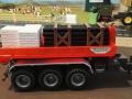Mulden Container und Zubehör für Siku Hakenlift 6786 - Rote Mulde mit Rohrpalette