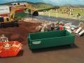 Mulden Container und Zubehör für Siku Hakenlift 6786 - Grüner Container