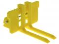 Treckerheld Palettengabel gelb für Siku Control 32 Gabeln schmal