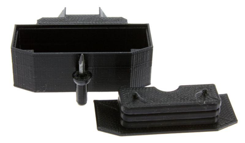 Treckerheld Gewicht Panther mit Dorn in schwarz für Siku Traktoren mit Deckel