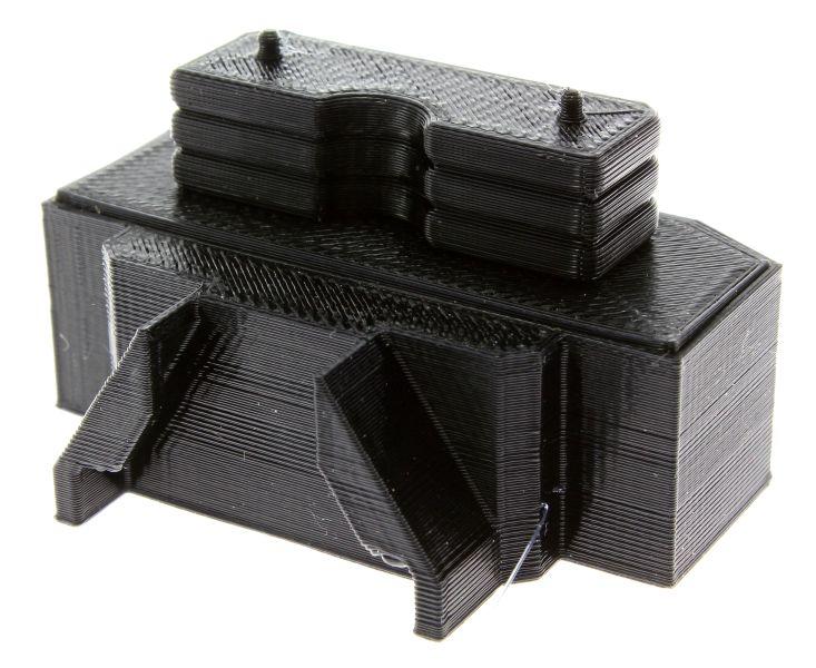 Treckerheld Gewicht Panther mit Dorn in schwarz für Siku Traktoren hinten