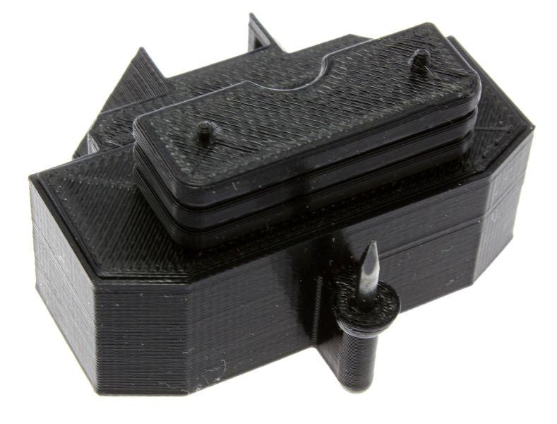 Treckerheld Gewicht Panther mit Dorn in schwarz für Siku Traktoren oben