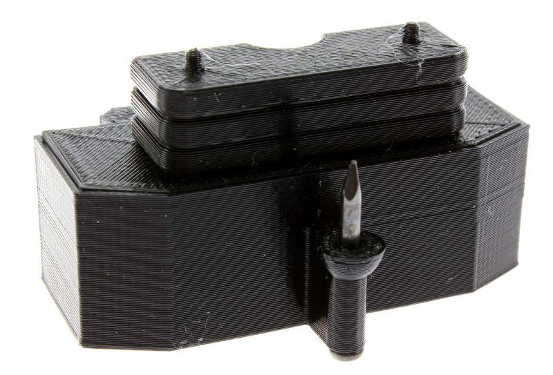 Treckerheld Gewicht Panther mit Dorn in schwarz für Siku Traktoren