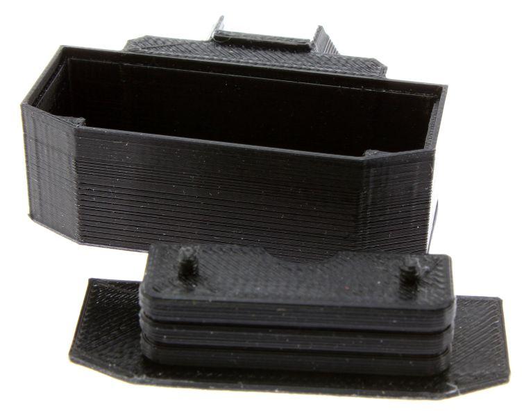 Treckerheld Gewicht Panther in schwarz für Siku Traktoren mit Deckel