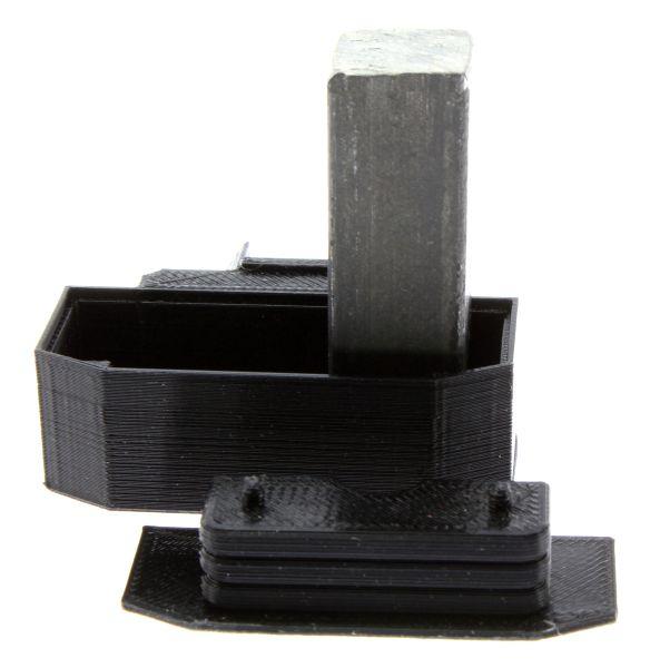Treckerheld Gewicht Panther in schwarz für Siku Traktoren mit Eisenblock